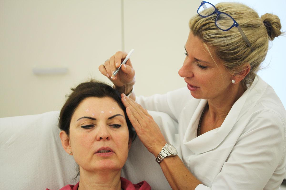Botox-Injektion bei Dr. Doris Wallentin