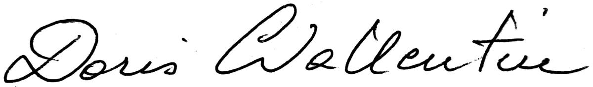 Signatur Doris Wallentin
