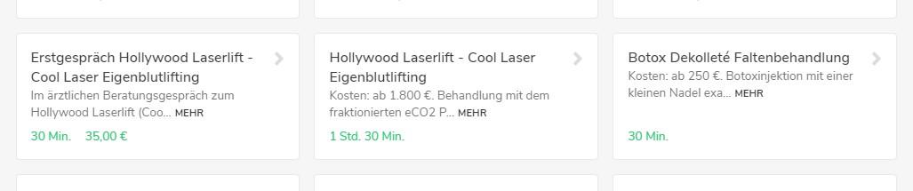 Cool Laser Eigenblutlift Erstgespräch online buchen