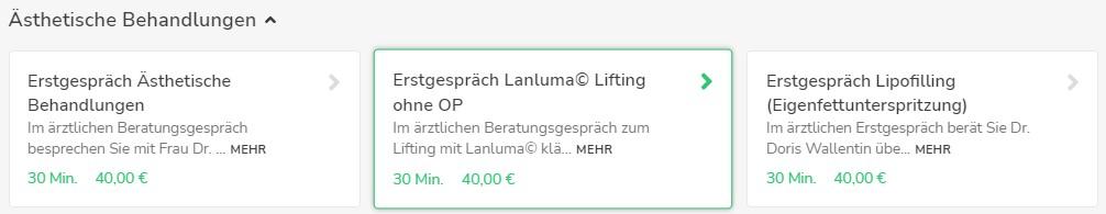 Onlinebuchung für Erstgespräch Lanluma© Lifting